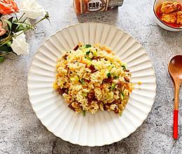 #肉食者联盟#鸡枞油腐乳炒米饭的做法