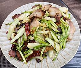 一个菜能下三碗饭-藠头炒腊肉的做法