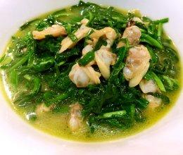 蛤蜊肉炒韭菜的做法