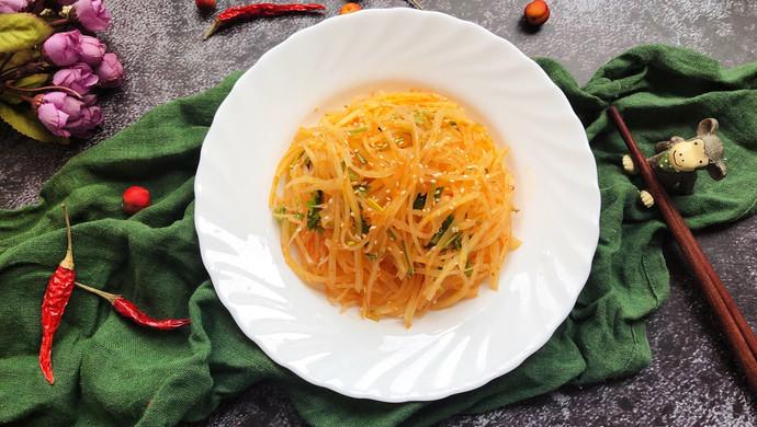 #花10分钟,做一道菜!#凉拌土豆丝