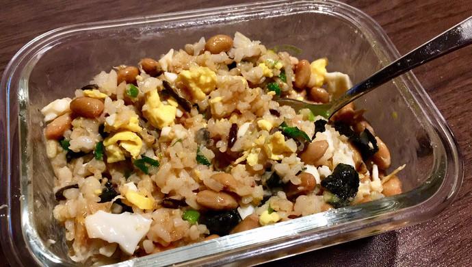 纳豆紫菜煎蛋小葱拌饭
