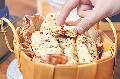 (糯米粉版)蔓越莓手指麻薯,香酥软糯年货茶点!
