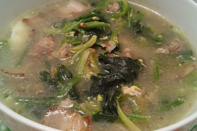 菠菜汤馒头干