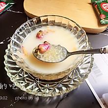 黑糖玫瑰西米奶茶