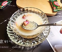 黑糖玫瑰西米奶茶的做法