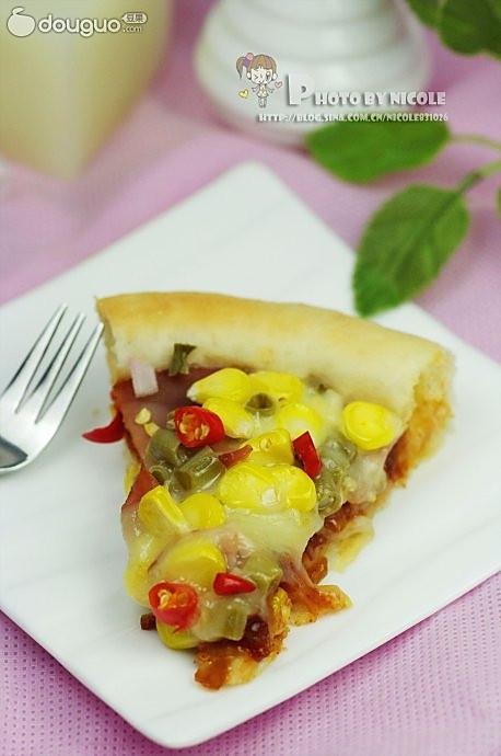 豆角火腿芝心披萨的做法