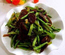 豇豆青椒炒香肠的做法