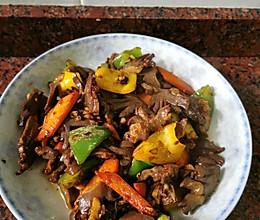 菜椒爆炒鸭肾的做法
