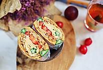 超有满足感,香辣藕片秋葵厚蛋烧爆炸三明治,应季又养生的做法