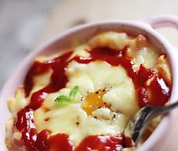 快手焗鸡蛋土豆泥的做法