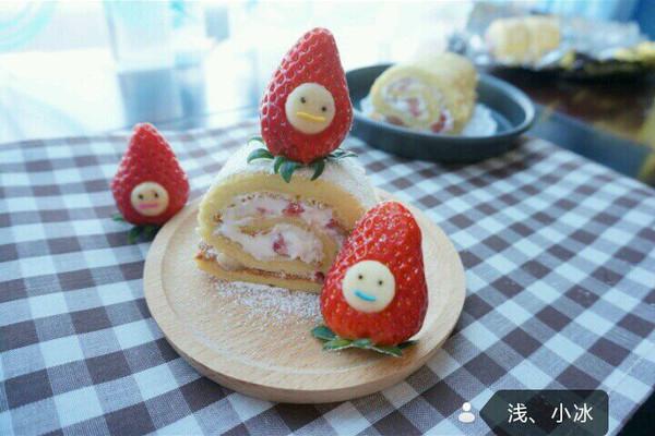 蛋糕卷--草莓瑞士卷的做法