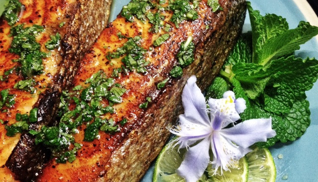 #梅太厨房#秘制香煎三文鱼的做法