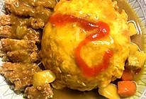 咖喱猪排蛋包饭的做法