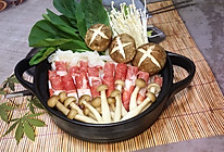 肥牛菌菇锅#竹木火锅,文艺腹兴#的做法