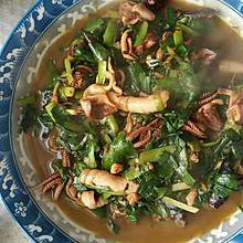 墨斗鱼炒韭菜