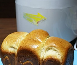 面包机版直接法北海道吐司的做法