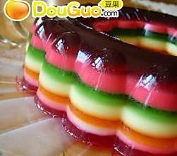 彩虹果冻的做法