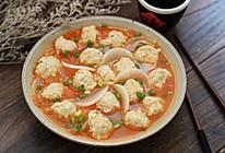 #秋天怎么吃# 白萝卜番茄肉丸汤的做法