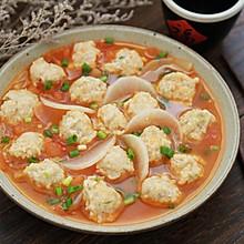 #秋天怎么吃# 白萝卜番茄肉丸汤