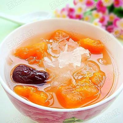 红枣木瓜银耳汤