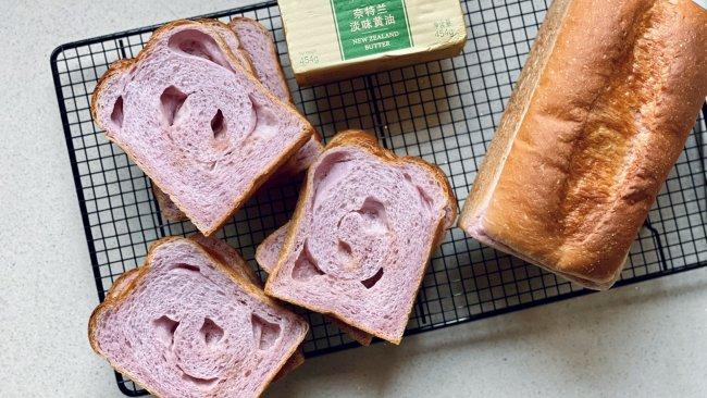 #奈特兰草饲营养美味#紫薯盐面包的做法