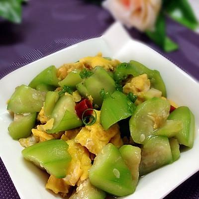 蚝油丝瓜炒蛋