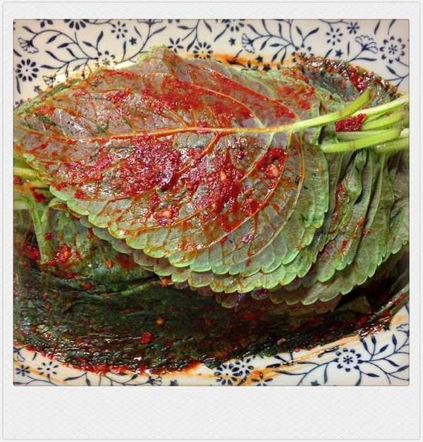 松树下的姑娘--韩式腌苏子叶