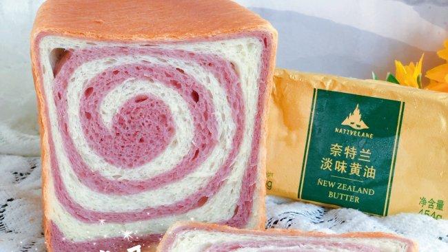 #奈特兰草饲营养美味#紫薯双色吐司的做法