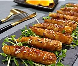 烤玉米笋肉卷的做法