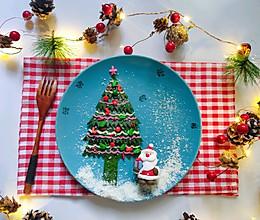 菠菜鸡蛋饼的变身,变成一棵漂亮圣诞树的做法