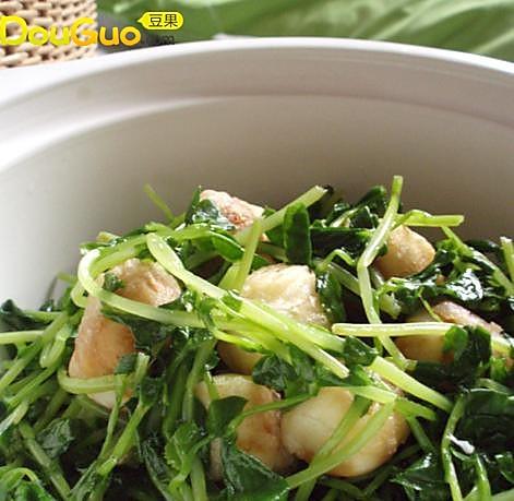 豌豆苗鹌鹑蛋组合的做法