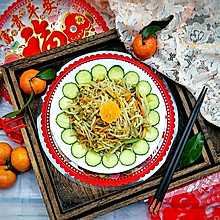 新年开胃凉拌菜:桔皮绿豆芽~