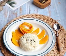 #麦子厨房#美食锅制作椰汁芒果糯米饭的做法
