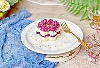 #洗手作羹汤#桂花紫薯雪蒸糕的做法