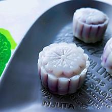 藜麦紫薯冰皮月饼