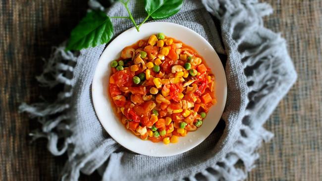 番茄香菇什锦菜的做法