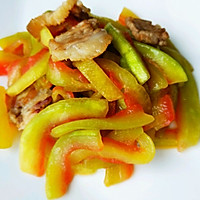 #一人一道拿手菜#西瓜皮炒肉的做法图解5
