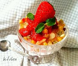 蜜豆冰粥的做法