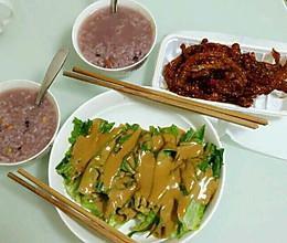 芝麻酱油麦菜(绿茶餐厅自制版)的做法