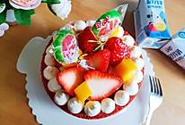 #福气年夜菜#红丝绒草莓裸蛋糕的做法