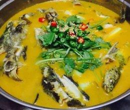 酸汤黄骨鱼的做法