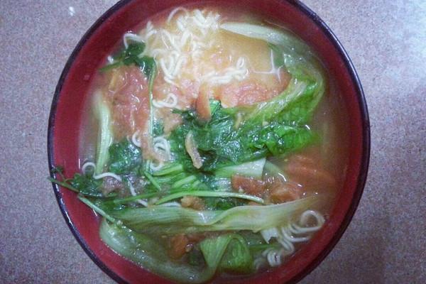无敌开胃健康的番茄青菜面的做法