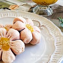 #快手又营养,我家的冬日必备菜品#粉嫩少女心桃花酥