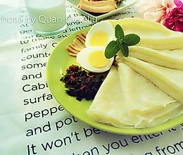 蛋香煎饼#急速早餐#的做法