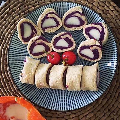 紫薯山药吐司卷