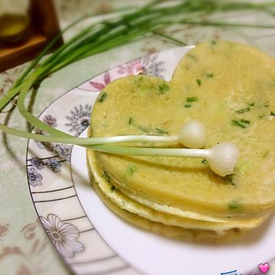 野葱鸡蛋饼