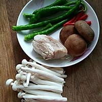 双菇回锅肉#我要上首页下饭家常菜#的做法图解2
