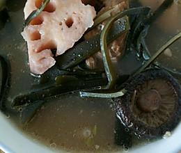 莲藕海带大骨汤的做法