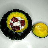 红枣糯米南瓜盅的做法图解3