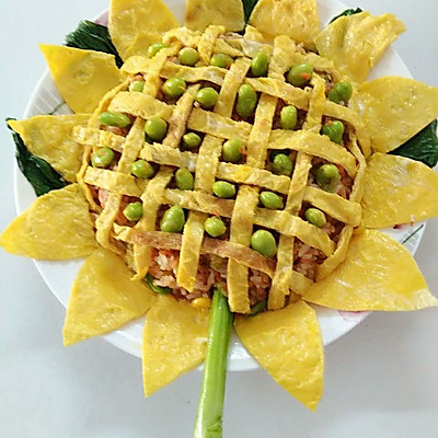 果语美食-向日葵之五彩饭